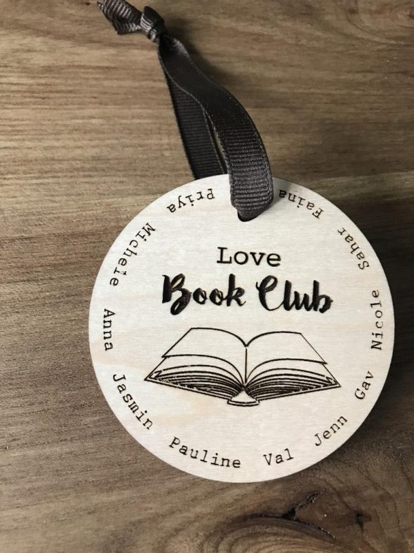 Book Club Christmas tree Ornament